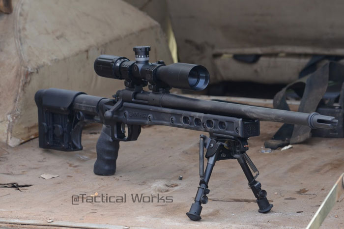 HS3 Chassis, Luth-AR stock, Harris bipod, TacOps scope mount