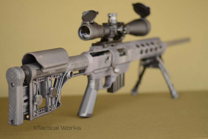 Luth-AR MBA buttstock on MDT Tac21 Chassis