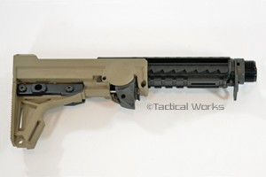 ERGO AR15/M16 F93 Adjustable Pro Stock in Black and Tan