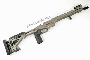 BA Competition Chassis for Remington 700 Short Action Gunmetal by Masterpiece Arms