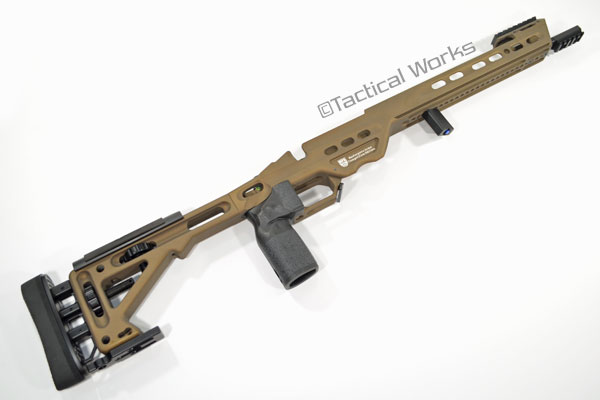 BA Competition Chassis for Remington 700 Long Action Burnt Bronze by Masterpiece Arms