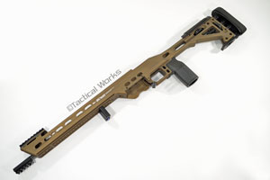 BA Competition Chassis for Remington 700 Short Action Burnt Bronze by MasterPiece Arms