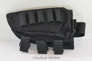 Tactical Operations Ammo Cheek Pad Shotgun Loops Black Left Hand