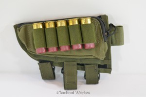 Tactical Operations Ammo Cheek Pad Shotgun Loops OD Green Left Hand