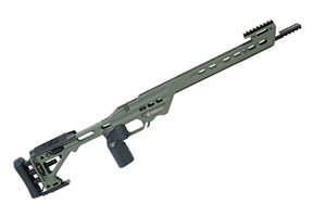 BA Competition Chassis for Tikka T3 Short Action Sniper Green by Masterpiece Arms