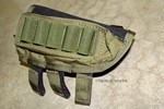 Tactical Operations Ammo Cheek Pad Shotgun Loops in OD Green