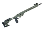 BA Competition Chassis for Remington 700 Short Action Sniper Green by Masterpiece Arms